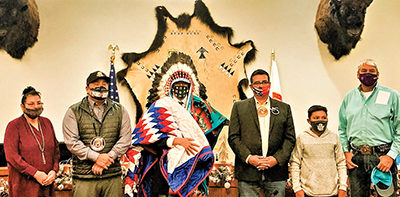 MHA Nation Leaders Honor Young Warrior