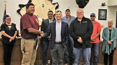Mandaree Fire Department Volunteers Honored